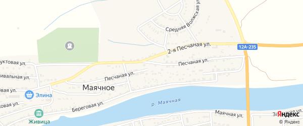 Песчаная улица на карте Маячного села с номерами домов