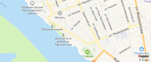 Улица Мещерякова на карте села Красного Яра с номерами домов