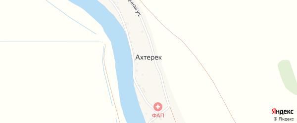 Солнечная улица на карте села Ахтерека с номерами домов