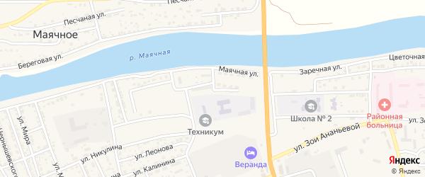 Маячная улица на карте села Красного Яра с номерами домов