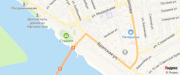 Милицейская улица на карте села Красного Яра с номерами домов