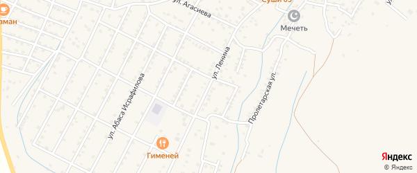Тупик Ленина на карте села Магарамкента с номерами домов