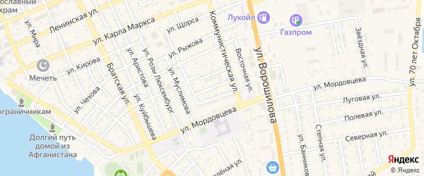 Новый переулок на карте села Красного Яра с номерами домов