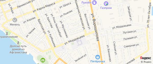 Новая улица на карте села Красного Яра с номерами домов