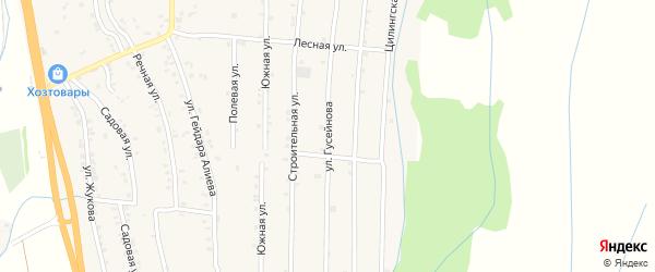Улица Низами на карте села Уллу-Теркеме с номерами домов