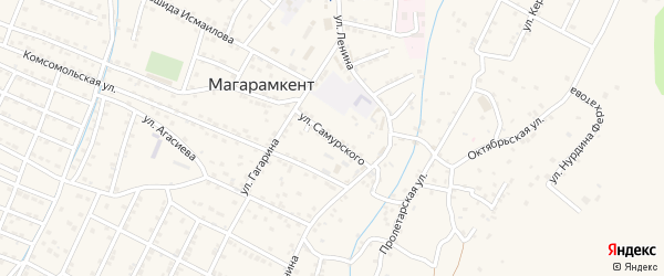 Улица Самурского на карте села Магарамкента с номерами домов