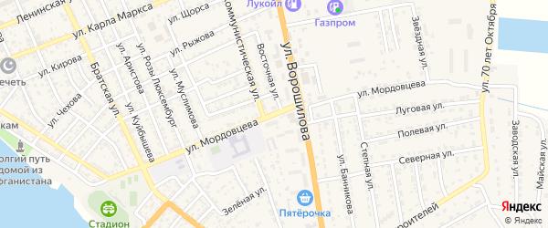Улица Мордовцева на карте села Красного Яра с номерами домов