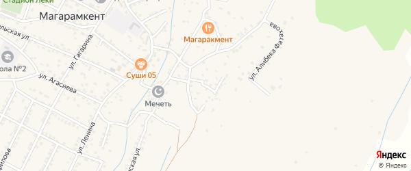 Улица Кирова на карте села Магарамкента с номерами домов