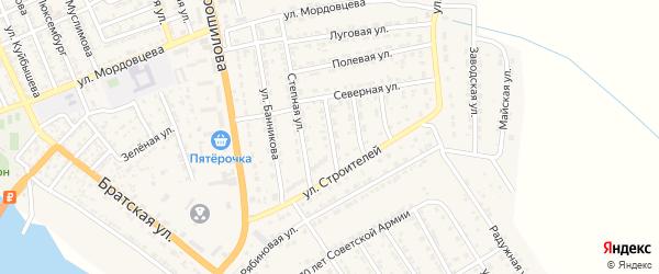 Огородная улица на карте села Красного Яра с номерами домов