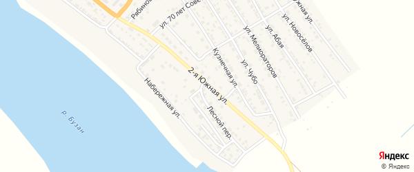 Южная 2-я улица на карте села Красного Яра с номерами домов