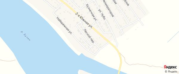 Лесной переулок на карте села Красного Яра с номерами домов