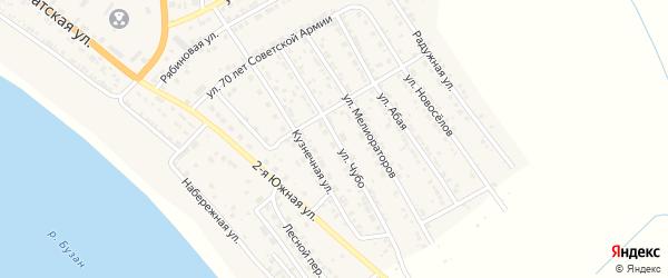 Улица Чубо на карте села Красного Яра с номерами домов