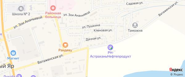 Дачная улица на карте села Красного Яра с номерами домов