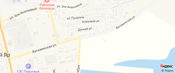 Ватаженская улица на карте села Красного Яра с номерами домов