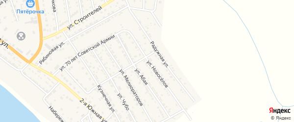 Улица Новоселов на карте села Красного Яра с номерами домов