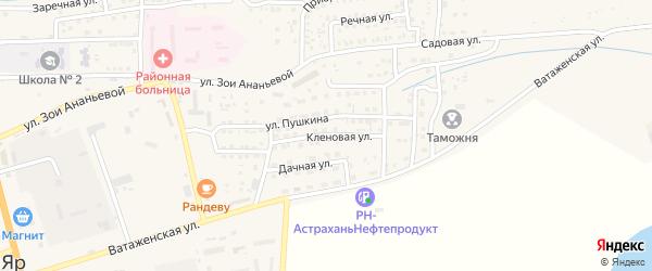 Кленовая улица на карте села Красного Яра с номерами домов