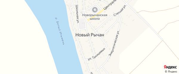 Спортивный переулок на карте села Нового Рычан с номерами домов
