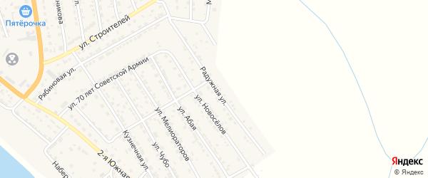 Радужная улица на карте села Красного Яра с номерами домов