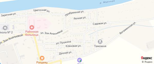 Сиреневая улица на карте села Красного Яра с номерами домов