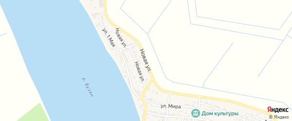 Новая улица на карте села Черемухи с номерами домов