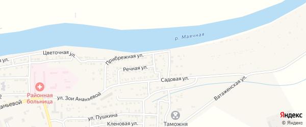 Садовый переулок на карте села Красного Яра с номерами домов