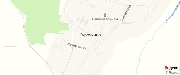 Улица Известковый на карте деревни Курочкино с номерами домов