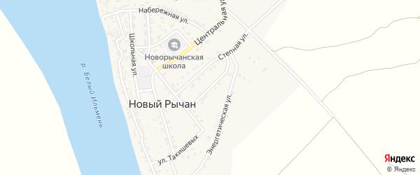 Восточная улица на карте села Нового Рычан с номерами домов