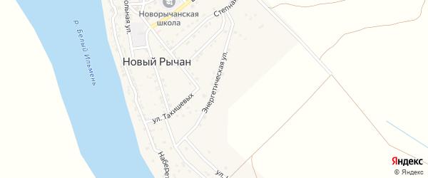 Энергетическая улица на карте села Нового Рычан с номерами домов