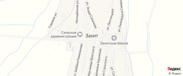 Улица Магомеда Ярагского на карте села Захита с номерами домов