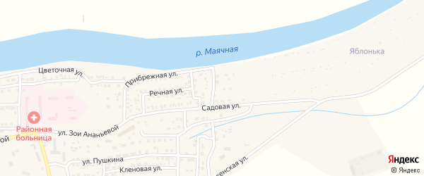 Васильковая улица на карте села Красного Яра с номерами домов