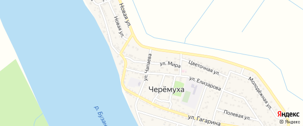 Улица Мира на карте села Черемухи с номерами домов