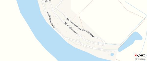 Молодежная улица на карте села Нового Рычан с номерами домов