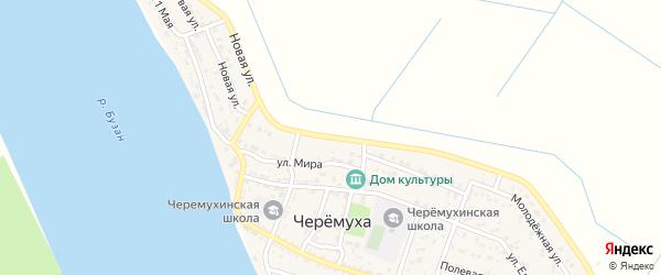 Цветочная улица на карте села Черемухи с номерами домов
