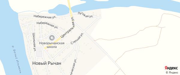 Промышленная улица на карте села Нового Рычан с номерами домов