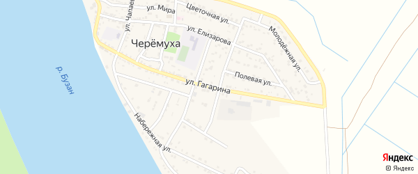 Улица Гагарина на карте села Черемухи с номерами домов