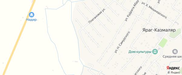Улица П. Казахмедова на карте села Ярага-Казмаляра с номерами домов