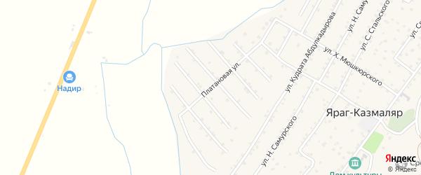 Улица М. Имирсадыкова на карте села Ярага-Казмаляра с номерами домов