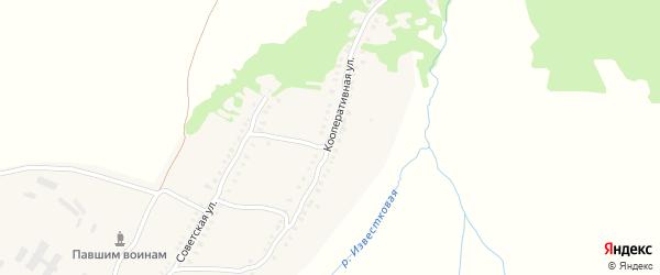 Кооперативная улица на карте деревни Курочкино с номерами домов