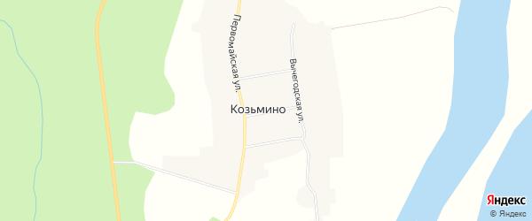 Карта деревни Малой Толша в Архангельской области с улицами и номерами домов