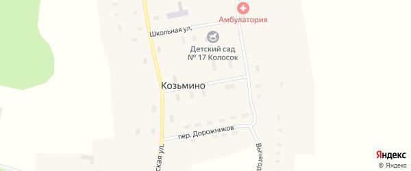 Центральная улица на карте села Козьмино с номерами домов
