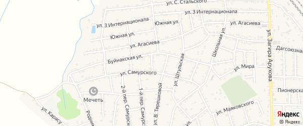 Улица Е.Эмина на карте поселка Белиджи с номерами домов