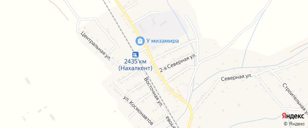 Северная улица на карте поселка Белиджи с номерами домов