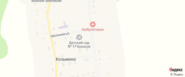 Вычегодская улица на карте села Козьмино с номерами домов