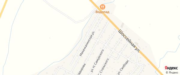 Улица М. Букарова на карте села Ярага-Казмаляра с номерами домов
