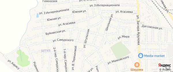 Штульская улица на карте поселка Белиджи с номерами домов