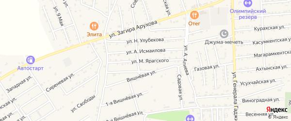 Улица М.Ярагского на карте поселка Белиджи с номерами домов
