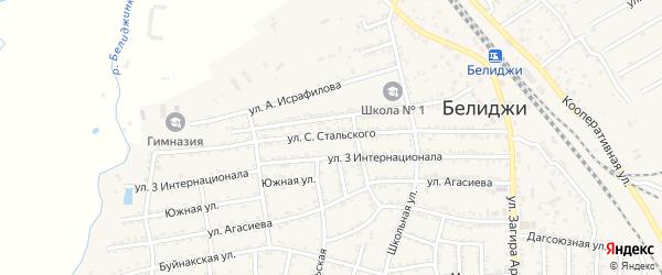 Улица С.Стальского на карте поселка Белиджи с номерами домов
