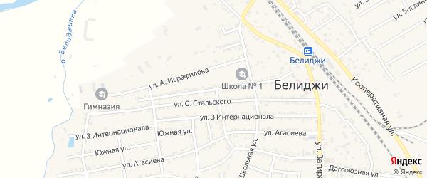 Почтовая улица на карте поселка Белиджи с номерами домов