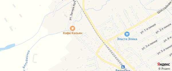 Улица Чапаева на карте поселка Белиджи с номерами домов