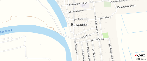 Улица Гагарина на карте Ватажного села с номерами домов
